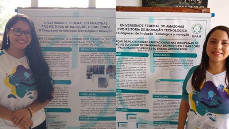 ALUNAS DO CURSO DE ENGENHARIA DE PETRÓLEO E GÁS PARTICIPAM DO 2º CONGRESSO DE INICIAÇÃO TECNOLÓGICA E INOVAÇÃO